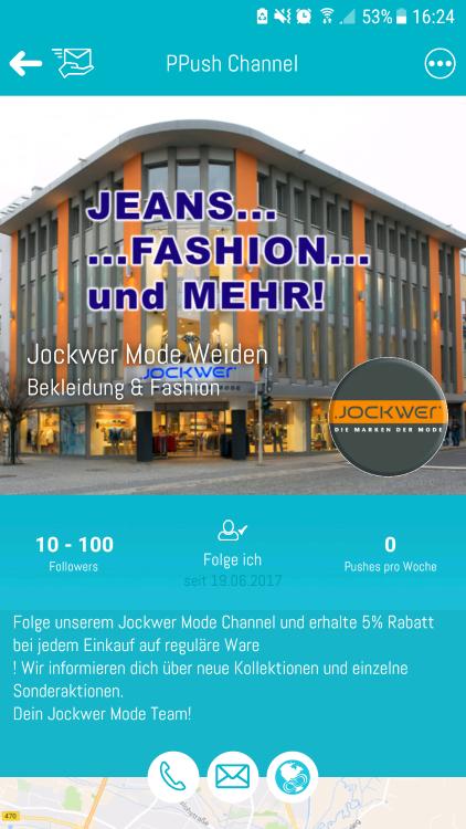 Die ersten PPush Channels – ein Überblick: Jockwer Weiden, dWirtschaft, Stangl & Taubald, Original OberpfalzShop
