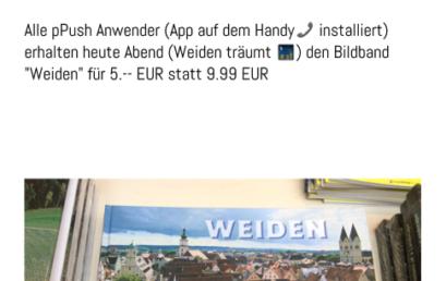 """PPush installieren und sparen – """"Weiden träumt"""""""