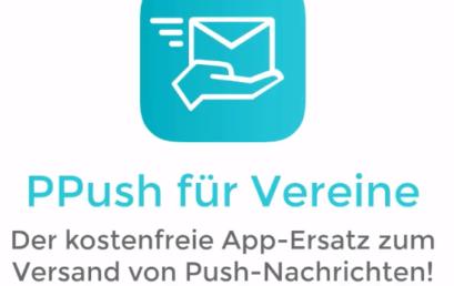 Kostenfreie Mobile-App für Vereine zur Mitgliederkommunikation – PPush