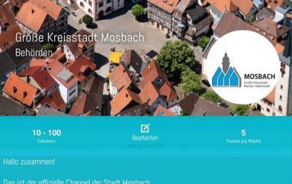 Stadt Mosbach nutzt PPush – einfach & unkompliziert