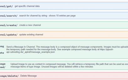 Versand von nativen Push Benachrichtigungen per API