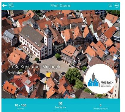 Weitere Stadt nutzt PPush kostenfrei zu Push-Informationszwecken